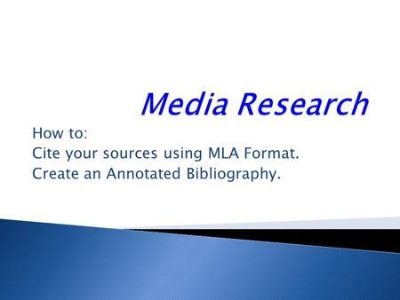 Annotated Bibliography - Research Strategies - LibGuides